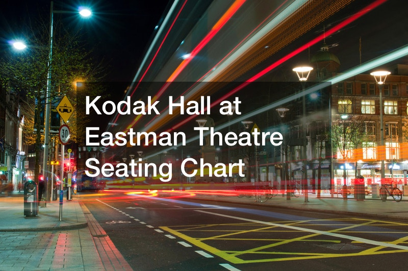 Kodak Hall at Eastman Theatre Seating Chart