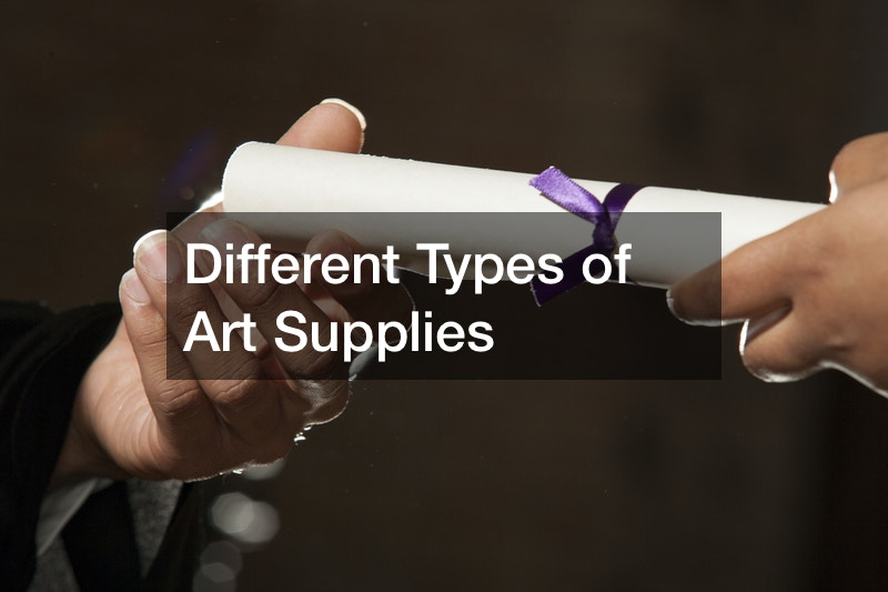 Different Types of Art Supplies
